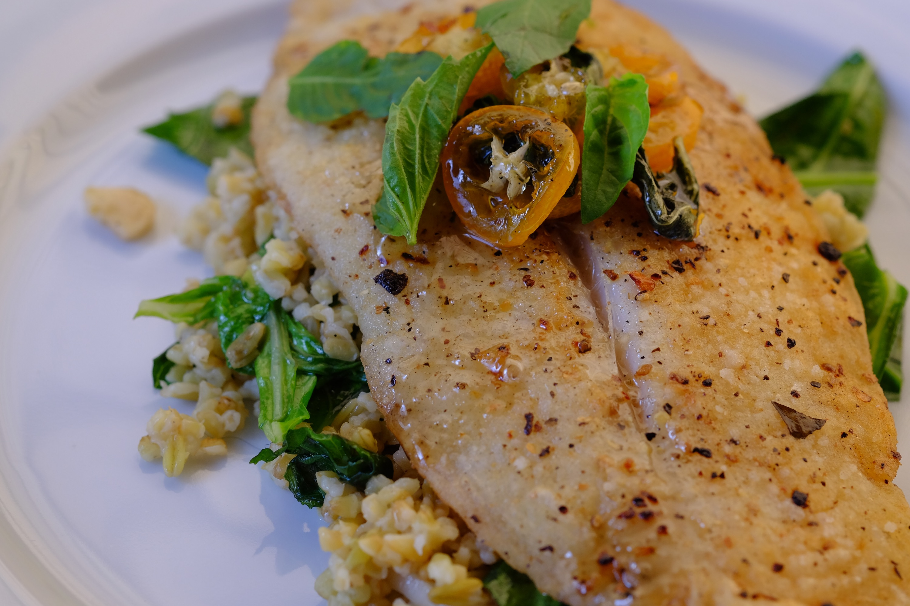 Blue Apron: Crispy Catfish & Cracked Freekeh