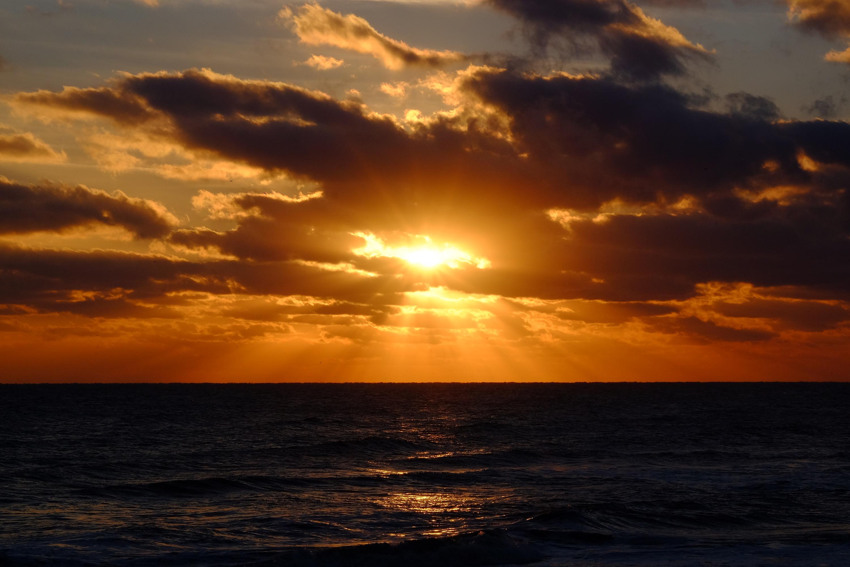 Golden sunrise. Ormond Beach, Florida