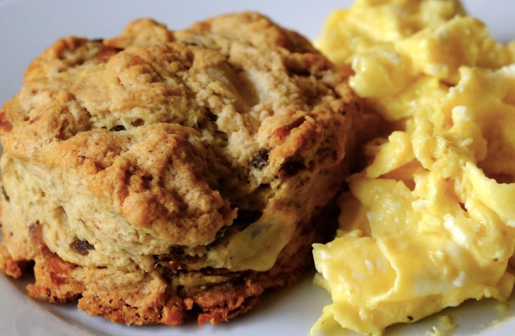 Scrambled eggs & biscuits